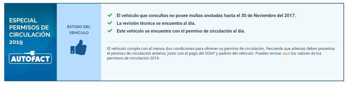 Con el Informe Autofact podrás obtener toda la información necesaria para saber si el auto que vas a comprar puede renovar su Permiso de circulación.
